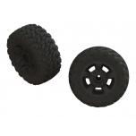Arrma Wheels & Tires, dBoots Ragnarok Mt Tires, Black Wheels (2)