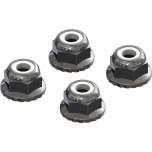 Arrma Flanged Nyloc Locknut 4mm Silver (4)