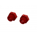 Arrma Aluminum Wheel Hex 24mm (Red) (2)