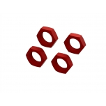 Arrma Aluminum Wheel Nut 24mm (Red) (4)