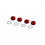 Arrma Aluminum Front Hub Nut Red (4) inc O-Rings