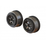 "Arrma SC 2.2""/3.0"" Wheel 14mm Hex Black Chrome (2)"