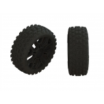 Arrma 2HO Tire Set Glued Black (2)