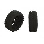 Arrma 2HO Tire Set Glued Black (2)