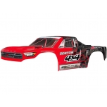 Arrma Body Painted Decal Trim Red Senton