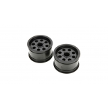 Front/Rear Wheel, Black (2): 1/10 2WD/4WD Ruckus