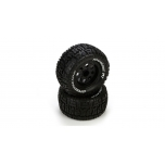 Front/Rear Wheel & Tire, Premount, Black (2): 1/10 2WD/4WD Ruckus