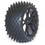 FTX VANTAGE Rear Buggy Tire, Mounted on black wheels (Pair)