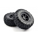 FTX OUTLAW tires premounted on black rims (2)