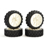 Fastrax 1/10th Street/Rally Tyre 10-spoke White Wheel (4 pcs)