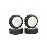 Fastrax 1/10th Street/Rally Tyre 5-spoke White Wheel (4 pcs)