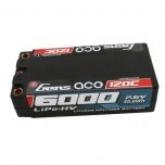 Gens ace 6000mAh 7.6V High Voltage 120C 2S2P Shorty Lipo