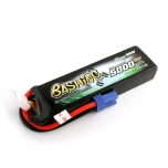Gens ace 5000mAh 11.1V 3S1P 25C/50C Lipo Battery Pack with EC5 Plug, Bashing Series