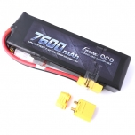 Gens ace 7600mAh 7.4V 50C 2S2P Lipo Battery with XT90 Connector