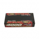 Gens ace Redline Series 4000mAh 7.6V 130C 2S2P HardCase HV Shorty Lipo Battery (4mm plugs)