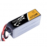 Tattu 6750mAh 14.8V 25C 4S1P Lipo Battery with XT90