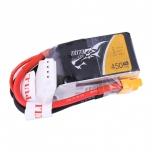 Tattu 450mAh 3S1P 11.1V 75C Lipo Battery Pack with XT30