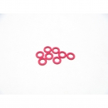 Hiro Seiko 3mm Alloy Spacer Set (thickness 1.0 mm), Red (8 pcs)
