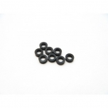 Hiro Seiko 3mm Alloy Spacer Set (thickness 1.5 mm), Black (8 pcs)