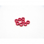 Hiro Seiko 3mm Alloy Spacer Set (thickness 2.0 mm), Red (8 pcs)