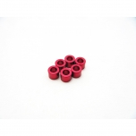 Hiro Seiko 3mm Alloy Spacer Set (thickness 3.0 mm), Red (6 pcs)
