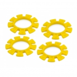 Jconcepts Satellite tire gluing rubber bands - Yellow- fits 1/10th, SCT and 1/8th buggy