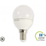 LED lamp - 6W E14 P45 Naturaalne valgus (4500K)