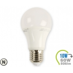 LED lamp - 10W E27 A60 termoplastik, naturaalne valge valgus