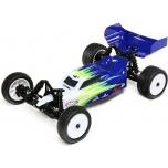 Losi Mini-B, Brushed, RTR: 1/16 2WD Buggy, blue/white