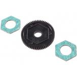 Losi Spur Gear with Slipper Pads, 60T 0.5M: Mini-T 2.0/Mini-B