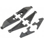 Losi Front Suspension Arm Set Upper/ Lower (Left and Right): Super Baja Rey