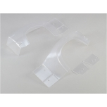 Losi Left and Right Rear Fender Set, Clear: Super Baja Rey