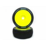 Louise B-Turbo Super Soft 1/8 bagi rehvid, liimitud, kollane velg (2tk)