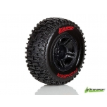 Louise SC-PIONEER, Soft, Must velg 12mm hex, TRX-Slash 2WD taha, 4WD ette/taha SC10
