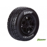 Louies SC-ROCKET Soft / Black Rim (For Slash Rear, Slash 4x4 F/R, SCRT10 F/R & Blitz F/R) / Mounted