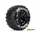 Louise MT-Cyclone soft black wheels 1/2 Offset 12mm Monster Truck 2,8