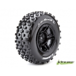 Louise SC-ROCK Soft, Black Rim (For Slash 2WD Rear, Slash 4x4 F/R) (2)