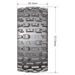 Louise MFT ST-Pioneer 2.8' Black rims 1/2' offset, 14mm Hex (2 pcs)