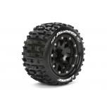 "Louise MT-PIONEER MFT 1/10 Monster Truck tire (soft) Bead-Lock 1/2"" offset, black rim (12mm hex) (2pcs)"