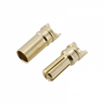 Gold banana connectors 3,5 mm (with cutout) (male + female) (1 pair)