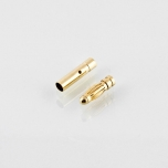Gold (banana) connectors 3 mm (male+female pair)