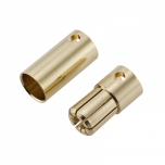 MSP 6.5 mm gold connector pair (female+male)