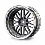 MST Drift wheels matt black/silver, changable offset (4pcs)