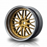 MST Drift wheels matt gold/silver, changable offset (4pcs)