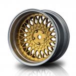MST Drift wheels BBS BMW matt gold/silver, changable offset (4pcs)