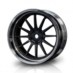 MST Drift wheels 12-spoke, matt black/silver, changable offset (4pcs)