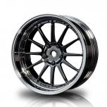 MST Drift wheels 12-spoke, black chrome/silver, changable offset (4pcs)