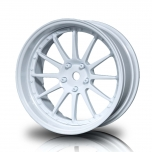 MST Drift 12-spoke W21 wheels, white, changable offset (4pcs)
