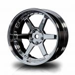 MST Drift wheels 6-spoke, silver, changable offset (4pcs)