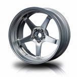 MST Drift 5-spoke GT wheels, flat silver, changable offset (4pcs)